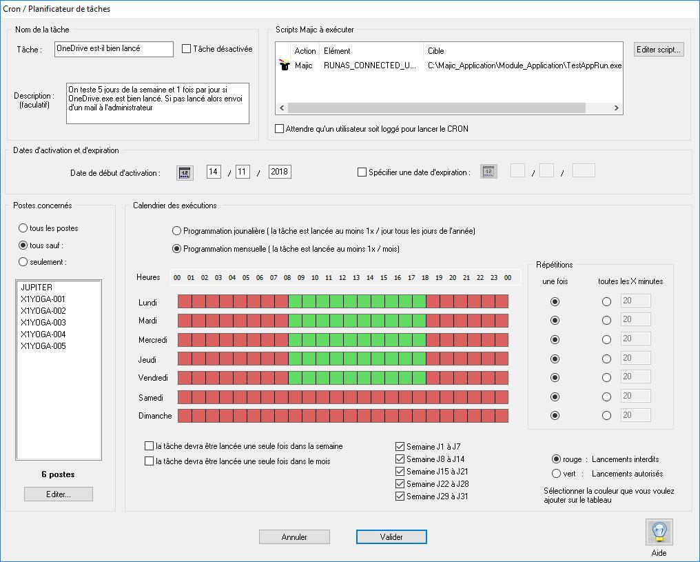 Execution de scripts et commandes a distance dans le CRON-02